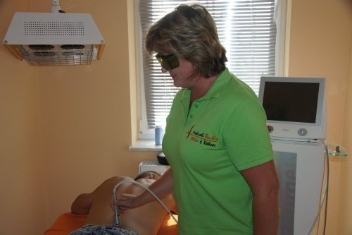 Anwendung der Lasertherapie